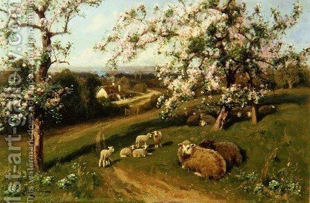 Spring, one of a set of the four seasons by Arthur Walker Redgate - Reproduction Oil Painting