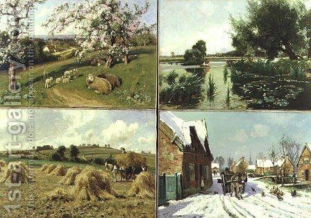 The Four Seasons by Arthur Walker Redgate - Reproduction Oil Painting