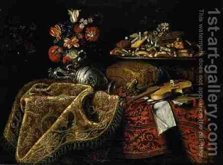 Still Life by Giuseppe Recco - Reproduction Oil Painting
