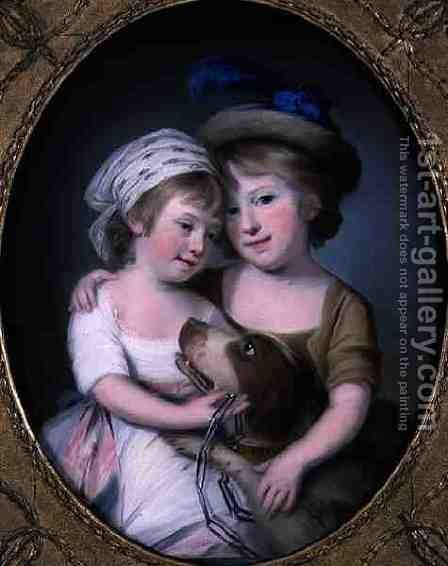 Simon Yorke II and his Sister Etheldred by Catherine Read - Reproduction Oil Painting