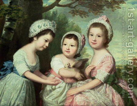 Caroline, Samuel Graeme and Catherine Marsh, c.1770s by Catherine Read - Reproduction Oil Painting