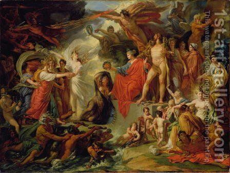 The Triumph of Civilization, c.1794-98 by Jacques Reattu - Reproduction Oil Painting