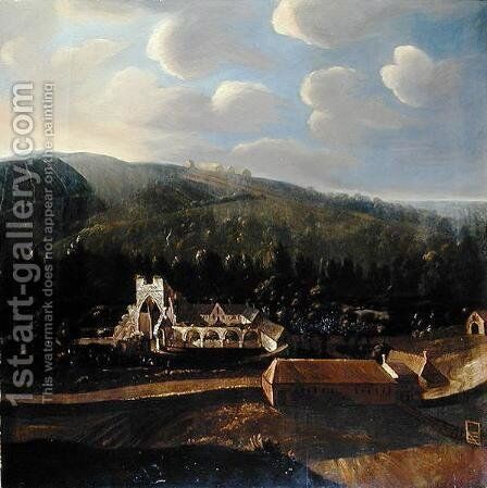 Calder Abbey by Matthias Read - Reproduction Oil Painting