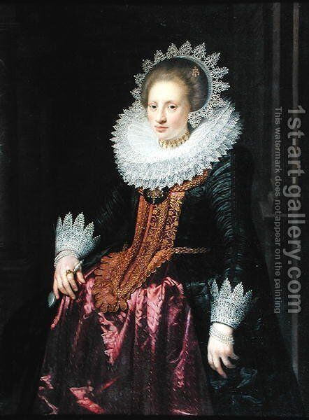 Madame Vrijdags van Vollehoven, 1620 by Jan Anthonisz. van Ravestyn - Reproduction Oil Painting