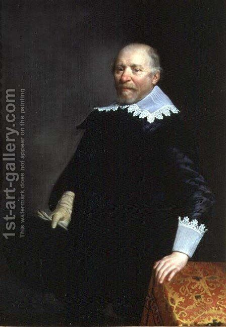 Portrait of Daniel Heinsius 1580-1655, Dutch classical scholar and poet by Anthony van Ravesteyn - Reproduction Oil Painting