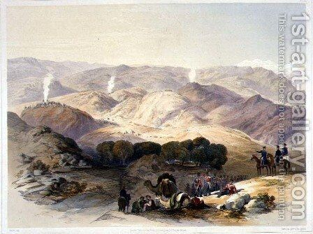 Jugdelluk, the Last Stand Made by General Elphinestone's Army in the Calamitous Retreat, plate 21 from Scenery, Inhabitants and Costumes of Afghanistan, engraved by Hulme, 1848 by (after) Rattray, James - Reproduction Oil Painting