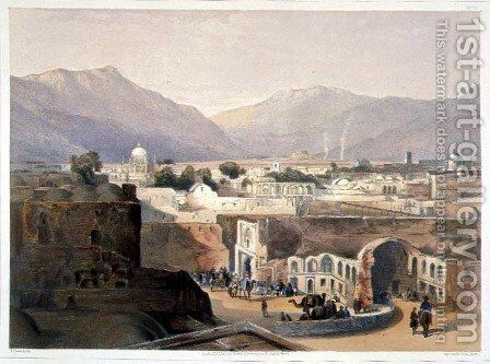 Interior of the City of Kandahar from the House of the Sirdar 'Meer Dil Khaun' Brother of the King of Caubul, plate 23 from Scenery, Inhabitants and Costumes of Afghanistan, engraved by R. Carrick c.1829-1904, 1848 by (after) Rattray, James - Reproduction Oil Painting