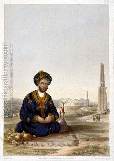 Hyder Khan, the Governor of Ghuznee, plate 19 from Scenery, Inhabitants and Costumes of Afghanistan, engraved by Walker, 1848 by (after) Rattray, James - Reproduction Oil Painting
