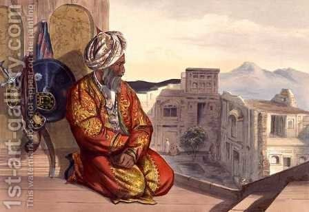 Atmaran Hindoo of Peshawar, plate 9 from Scenery, Inhabitants and Costumes of Afghanistan, engraved by Robert Carrick c.1829-1904 1848 by (after) Rattray, James - Reproduction Oil Painting