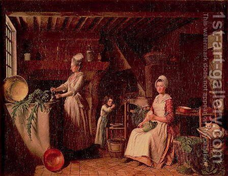 Provencal Kitchen by Antoine Raspal - Reproduction Oil Painting