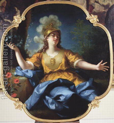 Portrait of a Woman as Minerva, 1730 by Jean Raoux - Reproduction Oil Painting