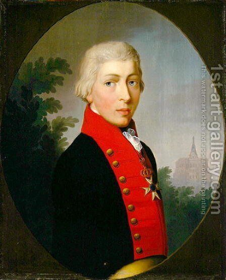 Portrait of the Second Elector of Hessen, 1806 by Andreas Range - Reproduction Oil Painting