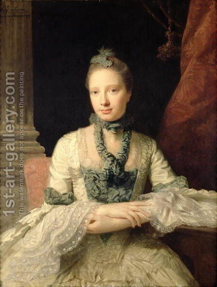 Lady Susan Fox-Strangways, 1761 by Allan Ramsay - Reproduction Oil Painting