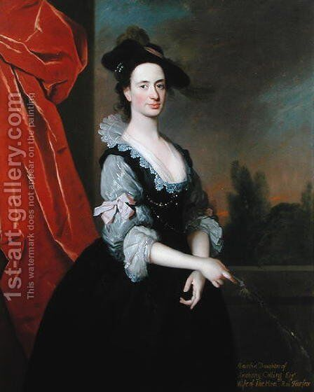 Martha d.1743 by Allan Ramsay - Reproduction Oil Painting