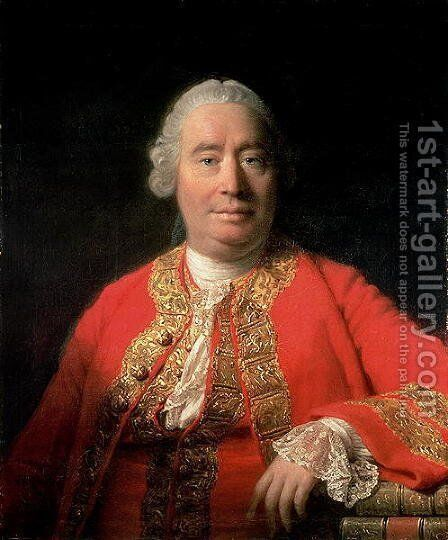David Hume 1711-76 1766 by Allan Ramsay - Reproduction Oil Painting