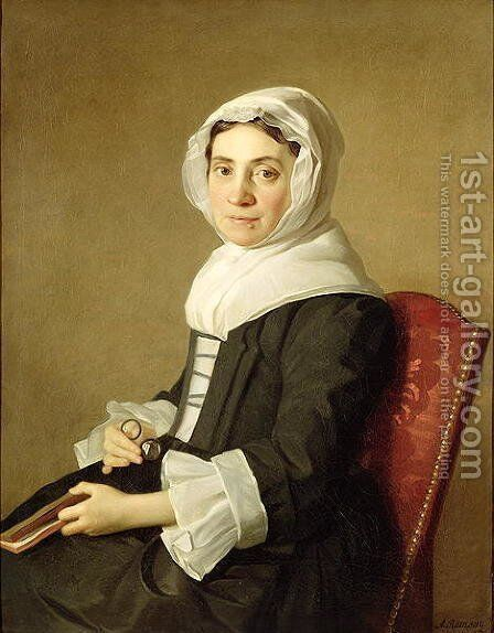Mary Adam, 1754 by Allan Ramsay - Reproduction Oil Painting