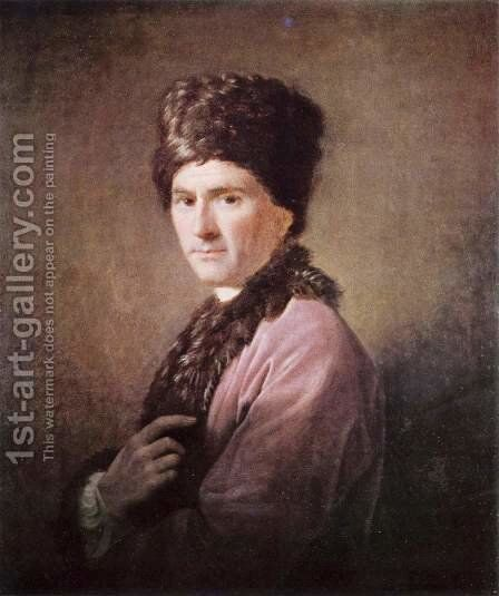 Jean Jacques Rousseau 1712-78 by Allan Ramsay - Reproduction Oil Painting
