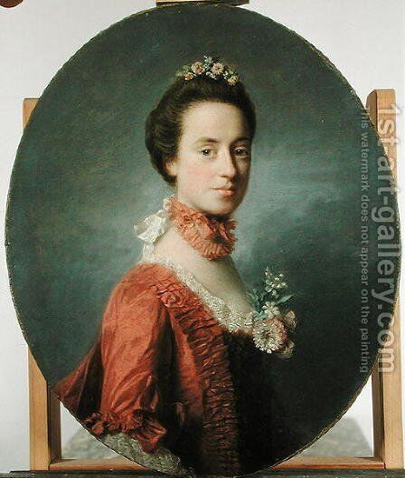 Mary Digges 1737-1829 Lady Robert Manners, c.1756 by Allan Ramsay - Reproduction Oil Painting