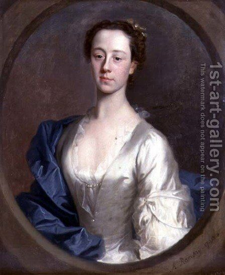 Portrait of Catherine Gale 1716-52, 1740 by Allan Ramsay - Reproduction Oil Painting