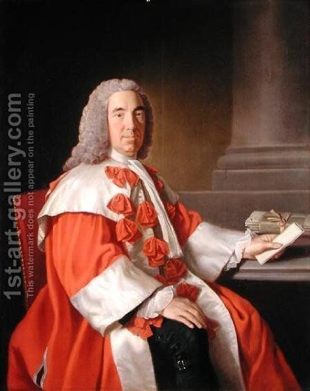 Alexander Boswell 1706-82 Lord Auchinleck, c.1754-55 by Allan Ramsay - Reproduction Oil Painting