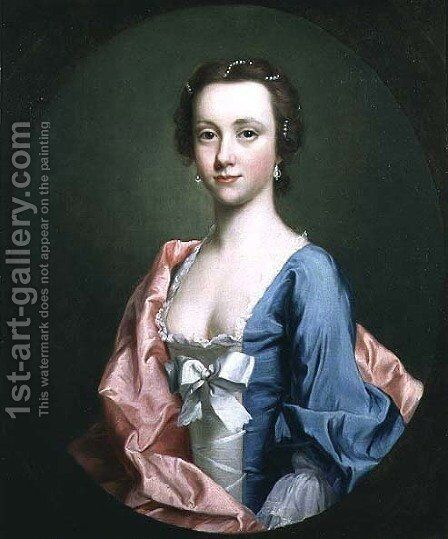 Portrait of a lady, traditionally said to be Jenny Cameron of Lochiel by Allan Ramsay - Reproduction Oil Painting