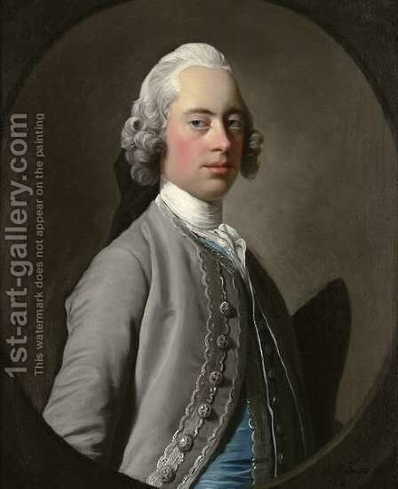 Portrait of Sir Henry Mainwaring by Allan Ramsay - Reproduction Oil Painting
