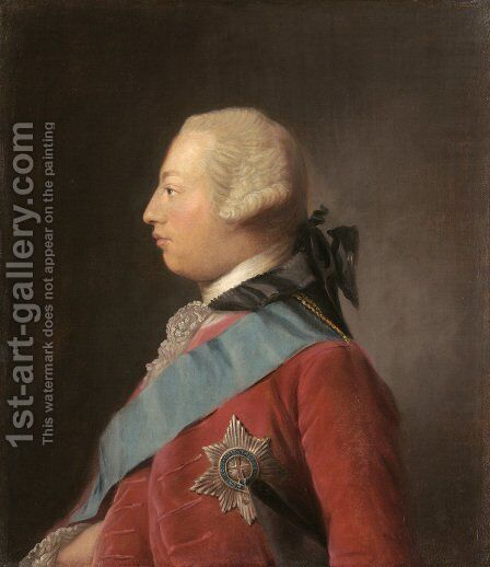 Portrait of King George III by Allan Ramsay - Reproduction Oil Painting