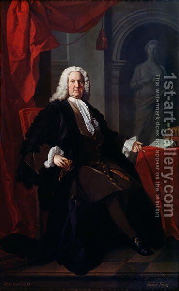 Portrait of Dr. Richard Mead, 1747 by Allan Ramsay - Reproduction Oil Painting