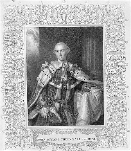John Stuart, Third Earl of Bute, engraved by W.T. Mote by Allan Ramsay - Reproduction Oil Painting