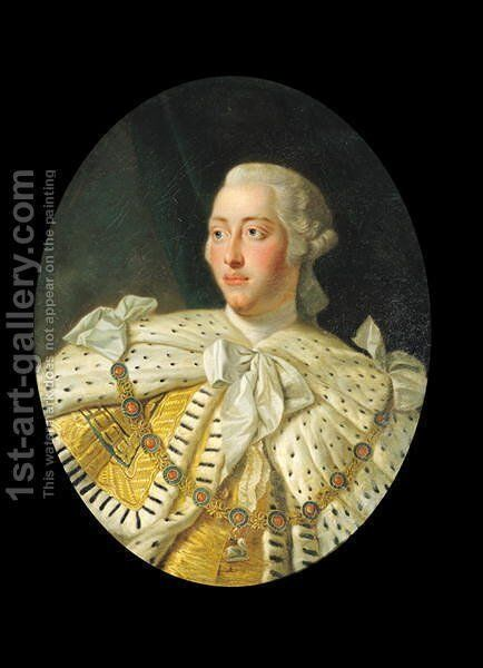 Portrait of King George III 1738-1820 after 1760 by Allan Ramsay - Reproduction Oil Painting