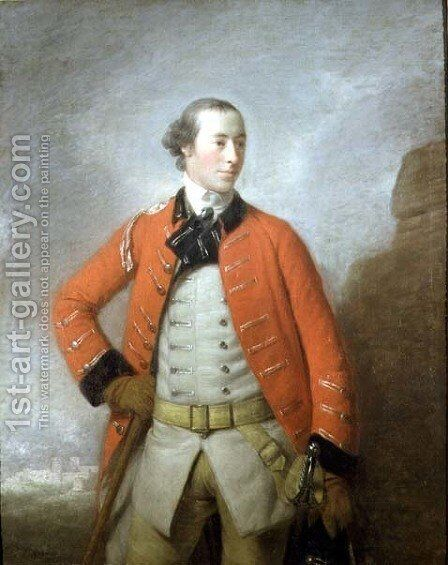Portrait of Captain Sir William-Peer Williams, Bt., c.1759 by Allan Ramsay - Reproduction Oil Painting