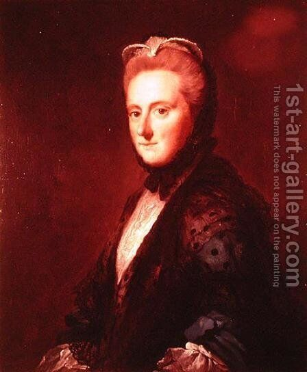 Mrs Clarges, daughter of the 1st Viscount of Barrington by Allan Ramsay - Reproduction Oil Painting