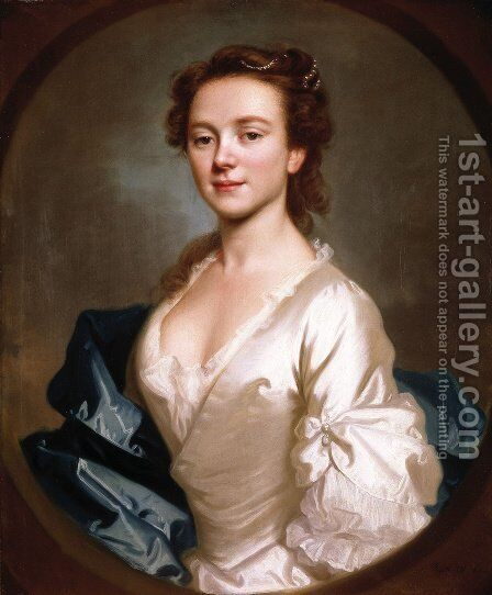 Miss Craigie, 1741 by Allan Ramsay - Reproduction Oil Painting