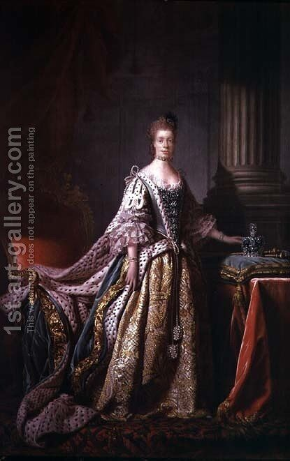 Queen Charlotte 2 by Allan Ramsay - Reproduction Oil Painting