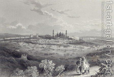 Delhi, engraved by Edward Paxman Brandard 1819-98 c.1860 by (after) Ramage, J - Reproduction Oil Painting