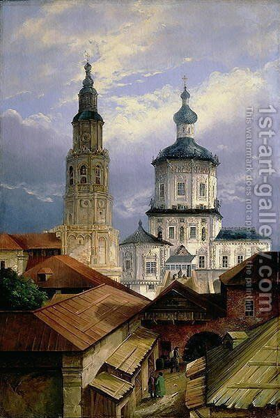 The Church of SS. Peter and Paul at Kazan, 1845 by Andrei Nikolaevich Rakovich - Reproduction Oil Painting
