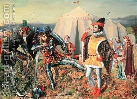 Hotspur and the Courtier by Edward Rainford - Reproduction Oil Painting