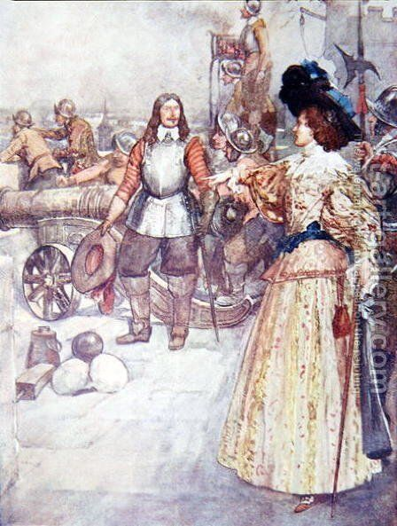 She Ordered the Commander to Load the Cannon, from The Story of France, by Mary MacGregor, 1911 by (after) Rainey, William - Reproduction Oil Painting