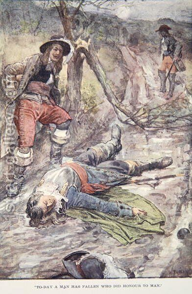 Today a Man Has Fallen Who Did Honour to Man, illustration from The Story of France Told to Boys and Girls by Mary MacGregor, 1920 by (after) Rainey, William - Reproduction Oil Painting