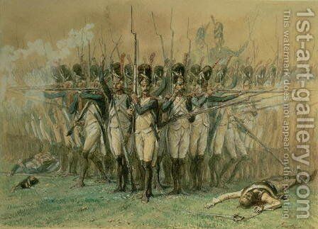 The Consular Guard at Marengo on 14 June 1800, c.1845 by Auguste Raffet - Reproduction Oil Painting