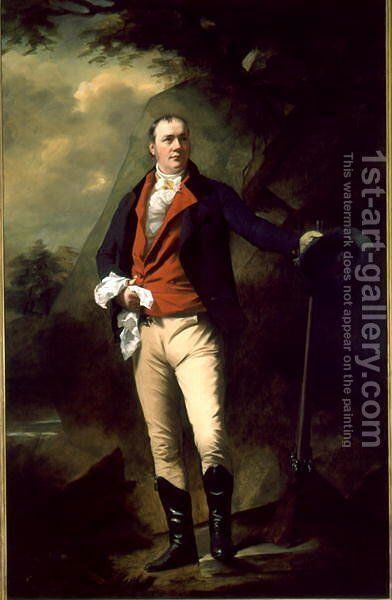 Portrait of Sir John Cunningham d.1822 by Sir Henry Raeburn - Reproduction Oil Painting