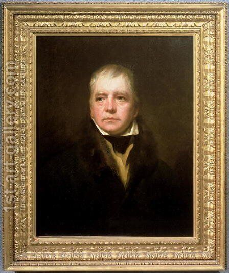 Portrait of Sir Walter Scott 1771-1832 by Sir Henry Raeburn - Reproduction Oil Painting