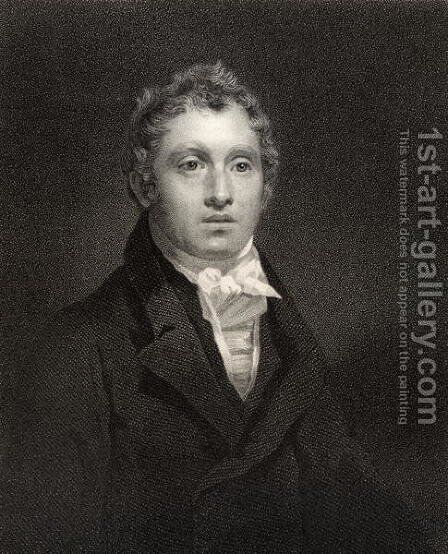 Sir David Brewster, engraved by W. Holl, from National Portrait Gallery, volume IV, published c.1835 by Sir Henry Raeburn - Reproduction Oil Painting