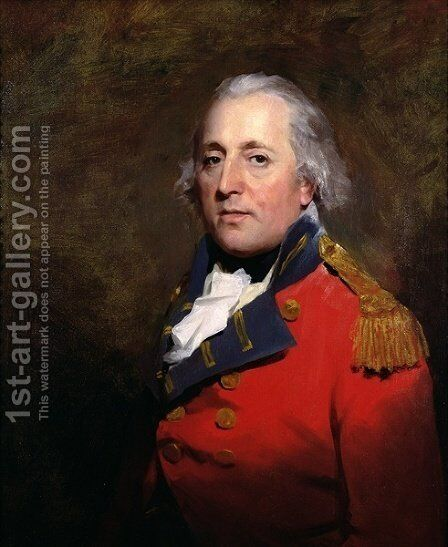 Portrait of Major Alexander Stewart by Sir Henry Raeburn - Reproduction Oil Painting