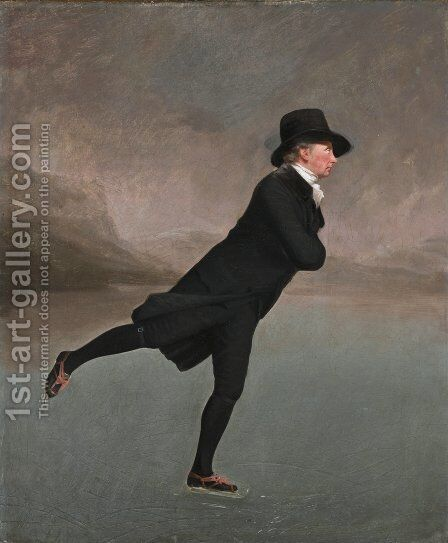 The Reverend Robert Walker skating on Duddingston Loch, 1795 by Sir Henry Raeburn - Reproduction Oil Painting