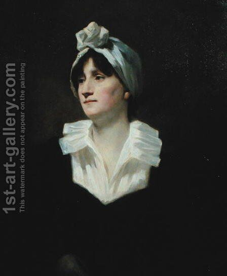 Portrait of Susanna Morrison, Mrs George Robertson, c.1820 by Sir Henry Raeburn - Reproduction Oil Painting