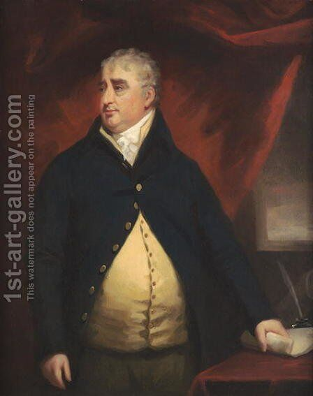 Portrait of Charles James Fox by Sir Henry Raeburn - Reproduction Oil Painting