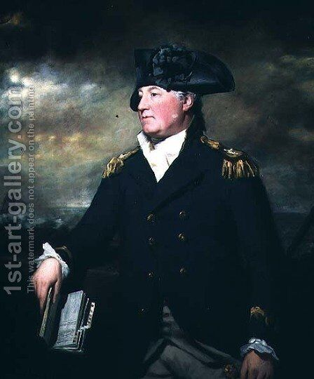 Rear-Admiral Charles Inglis c.1731-91, c.1783 by Sir Henry Raeburn - Reproduction Oil Painting