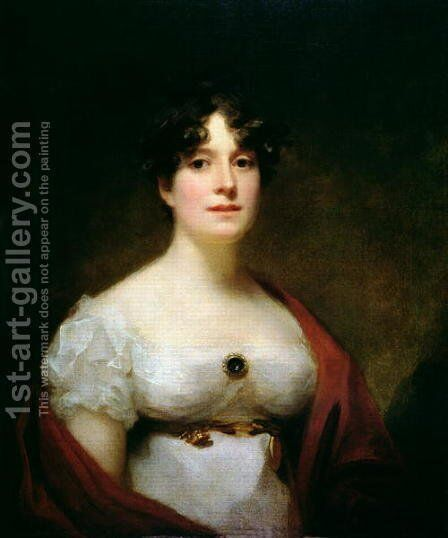 Mrs Lumsden by Sir Henry Raeburn - Reproduction Oil Painting