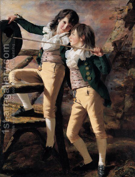 The Allen Brothers by Sir Henry Raeburn - Reproduction Oil Painting